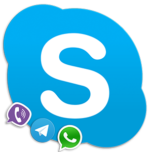 Analogs of Skype Logo